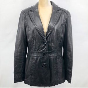 Avanti Black Butter Soft Leather Blazer
